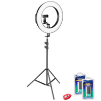 Neewer 14 inch Dimmable Bi color SMD LED Ring Light Lighting Kit for Camera/Smartphone Photo Studio Video Shooting+Light Stand