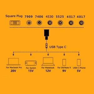 Image 5 - แล็ปท็อปช่องเสียบสายไฟ DC ADAPTER ADAPTER Charger สำหรับ Lenovo HP Asus 7.4*5.0 7.9*5.5 มม.หญิง USB Type C อะแดปเตอร์ชาย