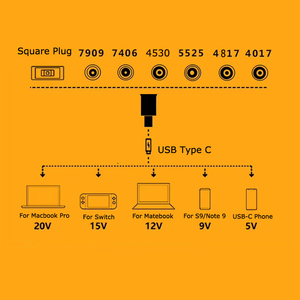 Image 5 - מחשב נייד שקע חשמל מחבר Dc מתאם מטען ממיר עבור Lenovo Hp Asus 7.4*5.0 7.9*5.5mm נקבה כדי USB סוג C מתאם זכר