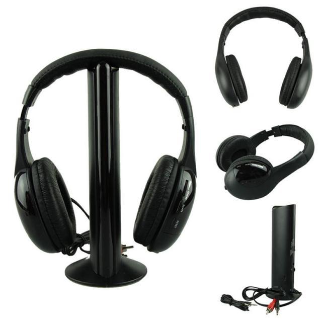 Nuevo 5IN1 Auriculares de la Música del Auricular Inalámbrico para TV Receptor De Cabeza Grande PC cascos con Microfono Para Juegos regalos de Año Nuevo