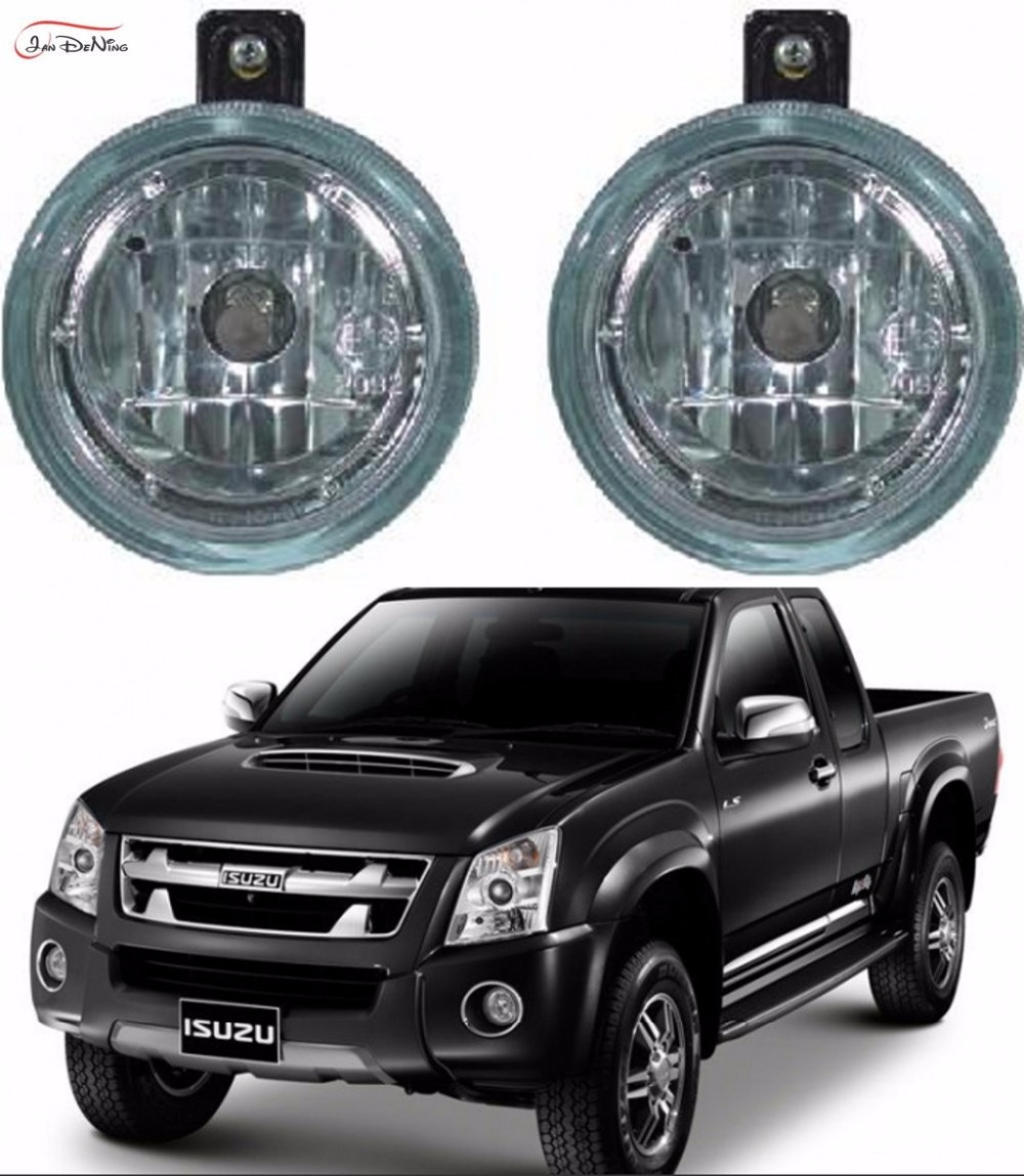 JanDeNing Car Fog Lights  For ISUZU D-MAX 2007- 2011 Front Fog Lamp Light  Replacement  Assembly kit  (one Pair) hot sale abs chromed front behind fog lamp cover 2pcs set car accessories for volkswagen vw tiguan 2010 2011 2012 2013