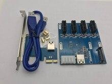 НОВЫЙ сад в карты PCIe 1 до 4 PCI express 1X слота Riser карты Mini ITX на внешние 4 PCI-e слот адаптер PCIe Port Multiplier Карты