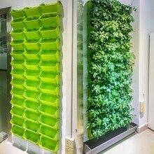 Модульная Тип со стеной из живых растений цветочный горшок вертикальный настенный зеленый цветочный горшок для сада и огорода