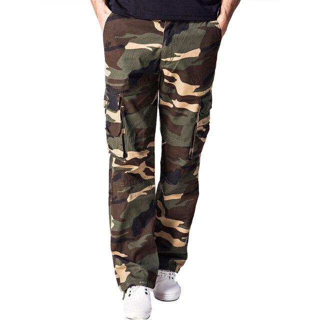 Мужская мода Брюки-Карго Военная Одежда Тактические Брюки Мужчины Армия Камуфляж Пот Повседневная Камо Спецодежды Брюки