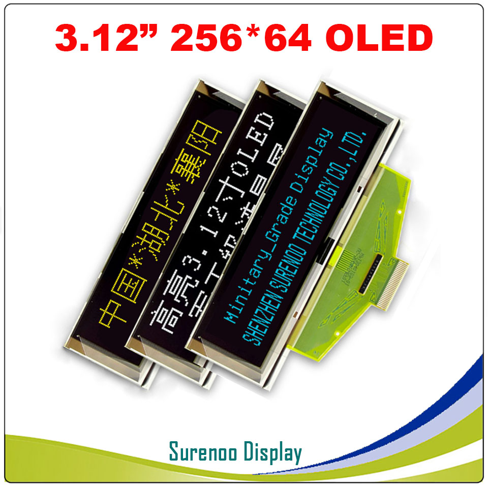 """Image 4 - Real OLED Display, 3.12"""" 256*64 25664 Dots Graphic LCD Module Display Screen LCM Screen SSD1322 Controller Support SPILCD Modules   -"""