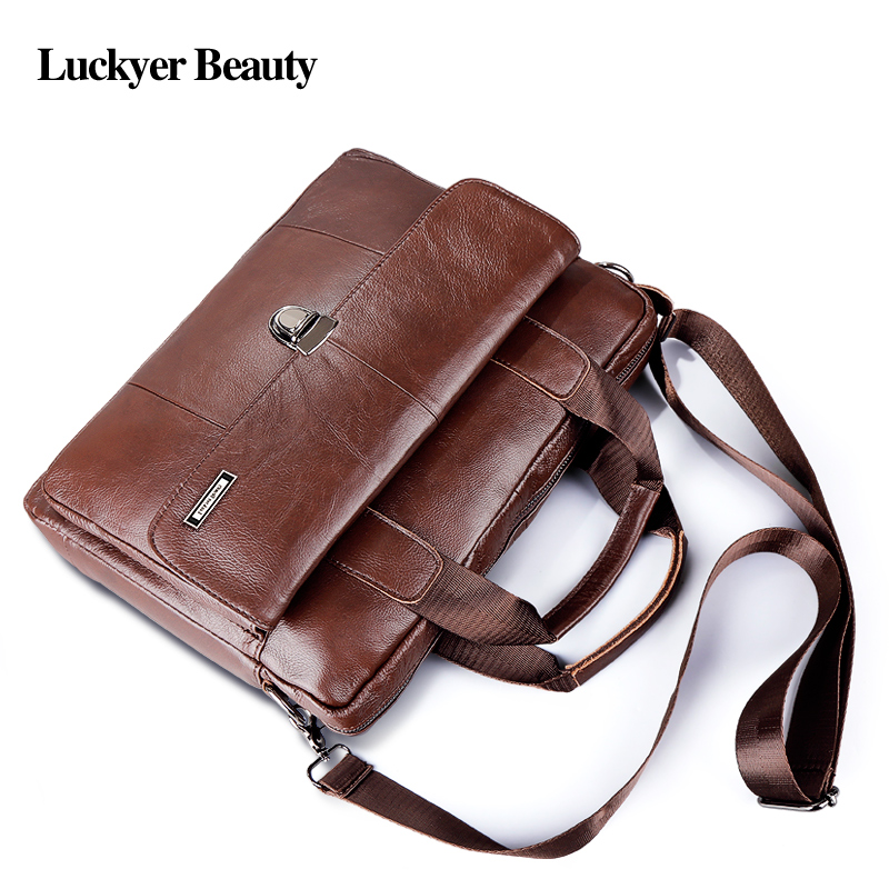 Fashion laptop travel bag Men's genuine leather 2