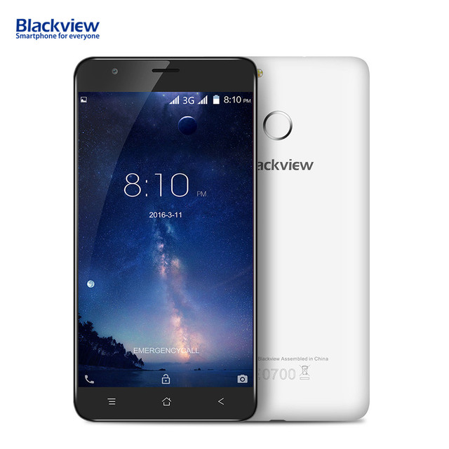 Blackview E7S 3G 5.5 Inch Smartphone WCDMA HD IPS ScreenAndroid 6.0 OS 2GB + 16GB 2700mAh Battery Fingerprint ID Mobile Phone