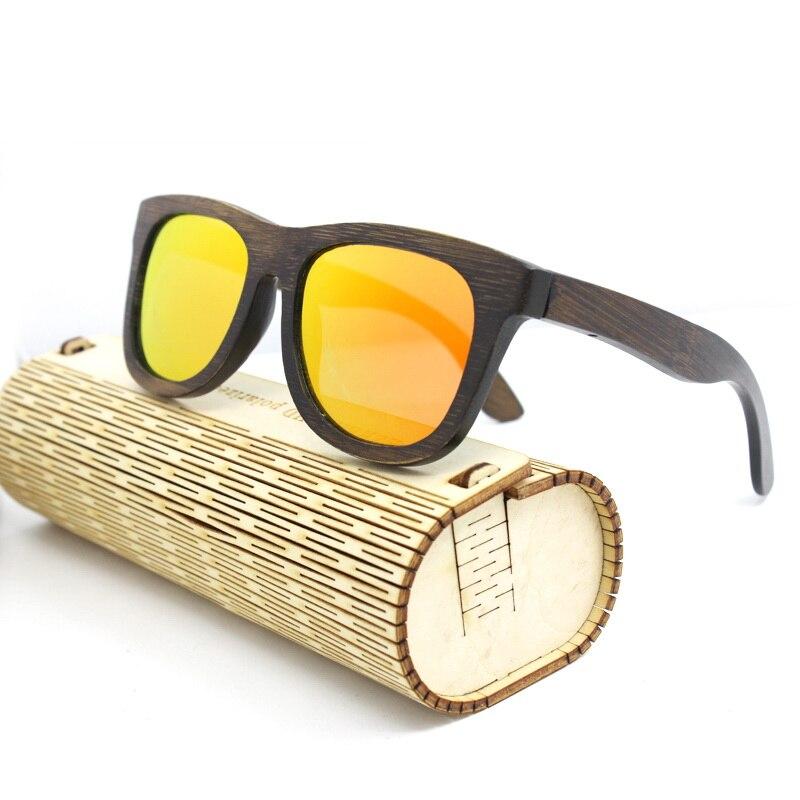 2016 Bamboo Sunglasses Men Wooden Sunglasses polarized Brand Designer Mirror Original Wood Sun Glasses Oculos zonnebril