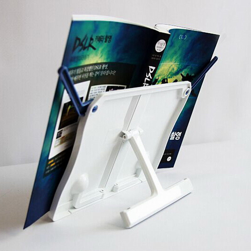 White Sale Portable Adjustable Bookends Stand Foldable Reading Book Cookbook Stand Document Holder Base Bookshelf Reading #1101 holidays cookbook country comfort