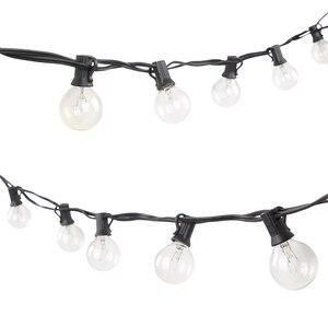 Image 5 - G40, guirnalda navideña de luces para fiesta, guirnalda de luces para jardín, boda, árbol de fiesta, luces de calle, Patio, bombillas Vintage de hadas para exteriores