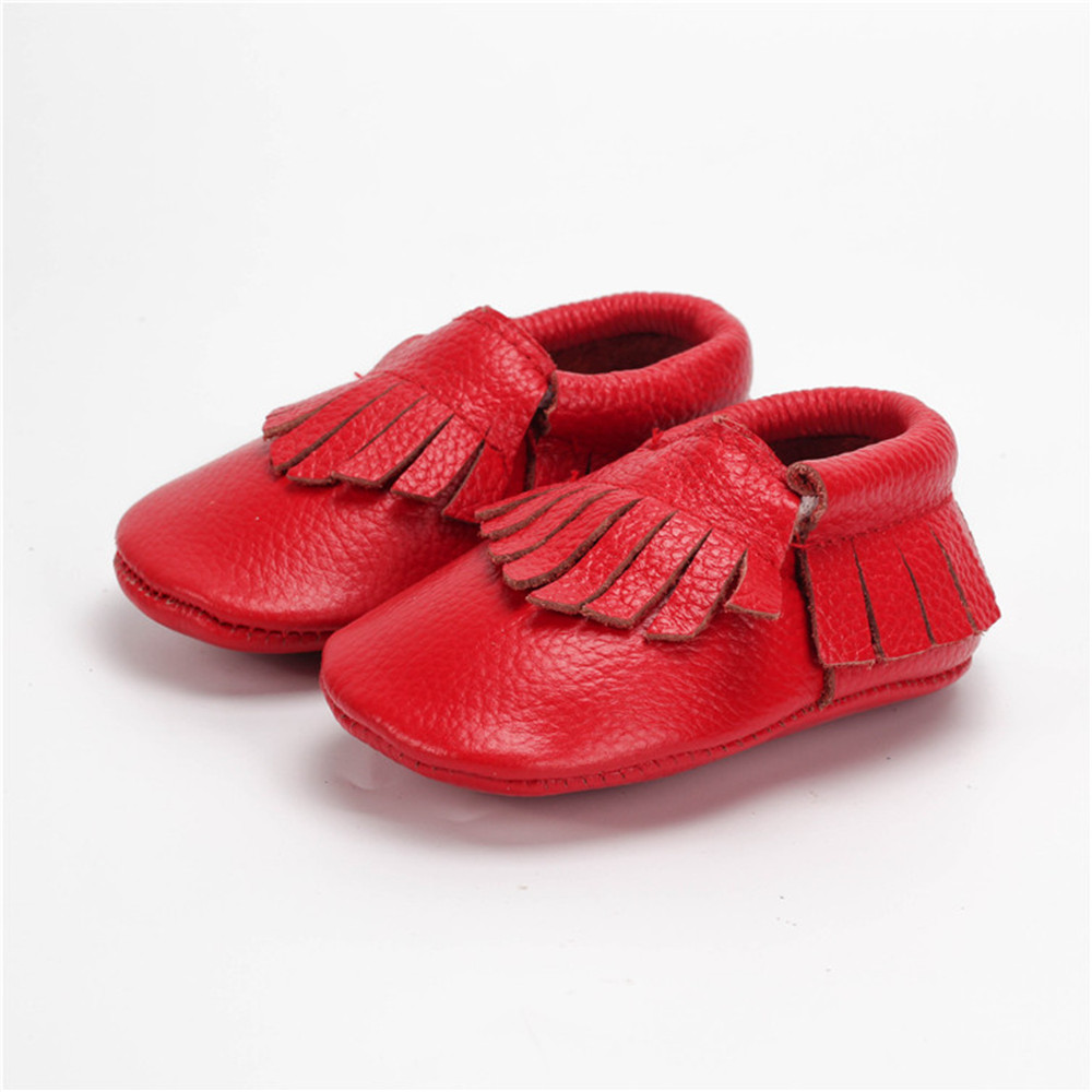 SDMOCCS Brand 1 Pair Send New Handmade Genuine Leather baby Fringe boots baby moccasins gils boy Shoes