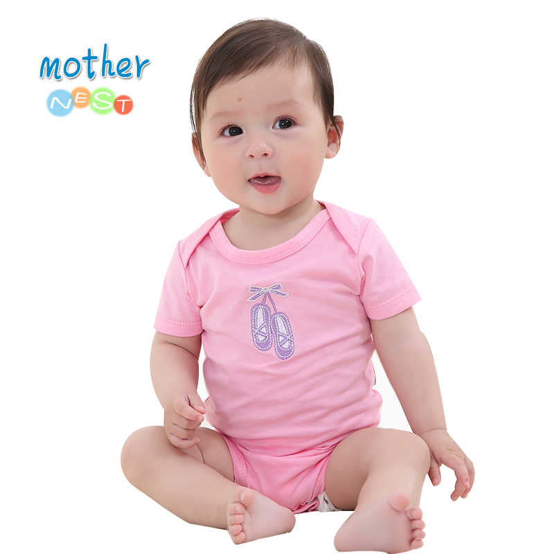 Retail 2018 New Baby Rompers Girl/Boy Baby Romper Short Sleeve One-piece Jumpsuit Baby Clothes for Newborn