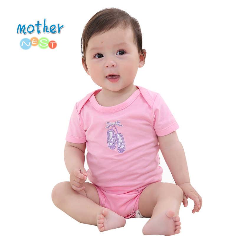 Detal 2018 nowy Baby pajacyki dla dzieci dziewczyna/chłopiec dziecko Romper z krótkim rękawem jednoczęściowy kombinezon dla niemowląt ubrania dla noworodka