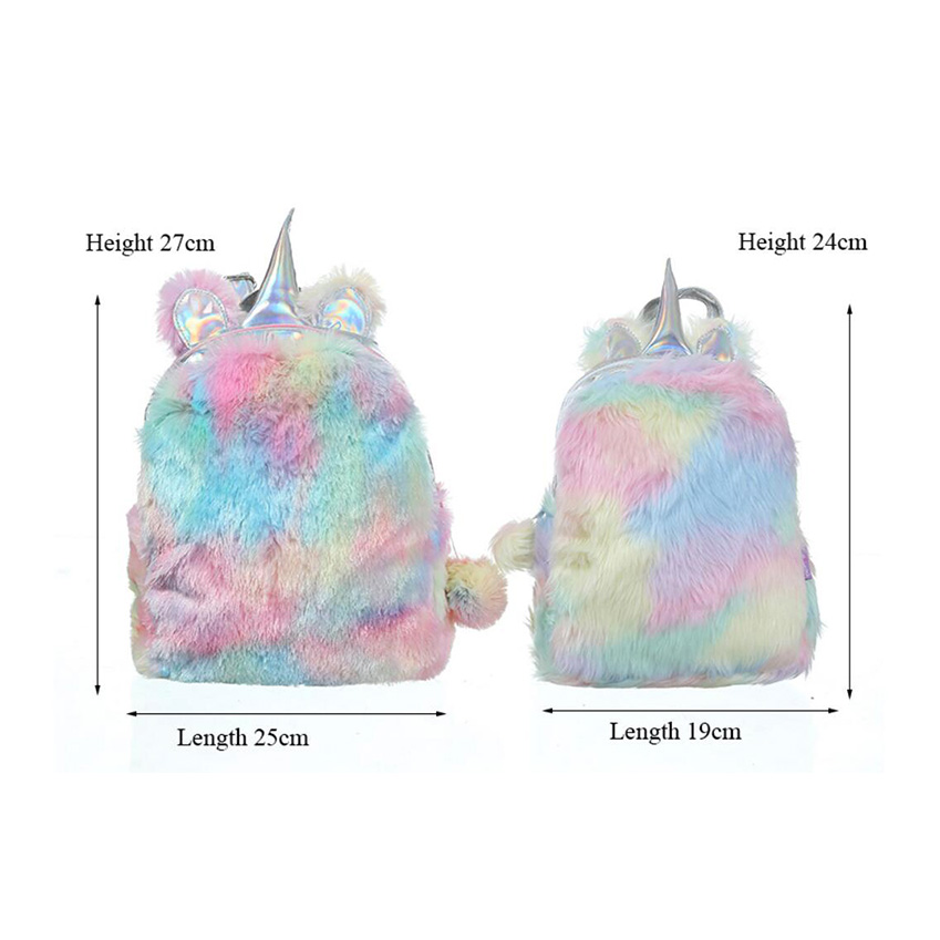 Fashion Cute Unicorn Women Backpacks Cartoon Kawaii Bagpacks Leather Hologram Women Girls School Bags Leather Backpack Mochila #2