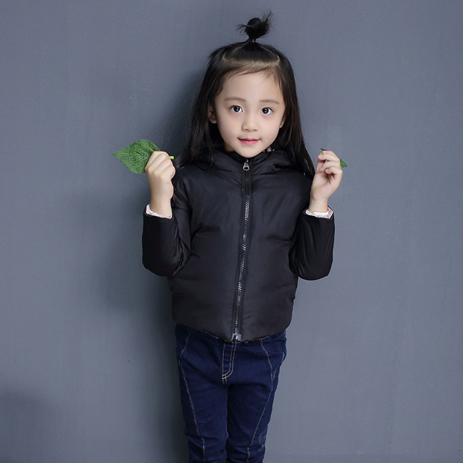 Qinter Jacket For Girls Casual Black Duck Down Kids Boys Winter coats Children Coat And Outerwear