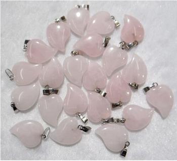 Piedra Natural Ojo de Tigre cristal de cuarzo turquesas colgante de corazón en forma de corazón para hacer joyas diy accesorios de collar 24 piezas