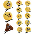 Nueva Lindo Emoji Emoticon Unisex Linda Diadema Pelo de La Horquilla Clip de Banda para Las Mujeres Hairwear DM #6