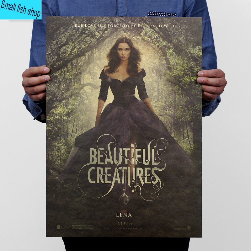Beautiful creatures Alice Englert Love magic Movie Poster, Home Furnishing decoration Kraft Movie Poster Wall stickers