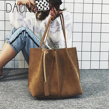 Женская сумка через плечо, сумка для покупок с двумя ремешками, модная школьная Повседневная сумка, простая вместительная сумка с пряжкой, дизайнерская брендовая сумка