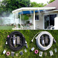 30ft with 13pcs Misting Nozzles 12V Misting Pump 160PSI High Pressure Booster Diaphragm Water Pump Sprayer
