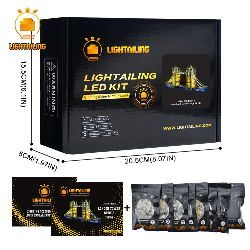 LIGHTAILING HA CONDOTTO Kit Luce Per Architettura London Tower Bridge Luce Set Compatibile Con 10214 E 17004 (NON Includere La modello)