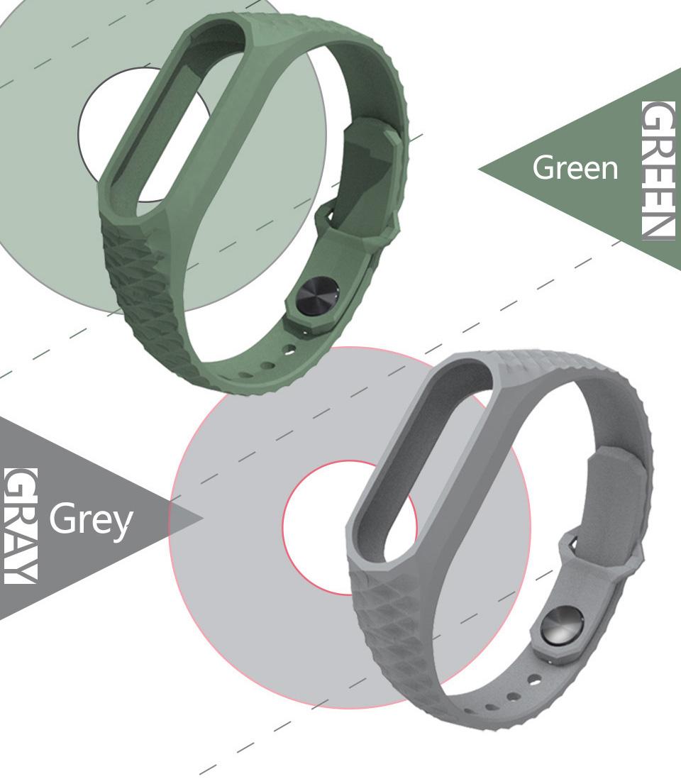 Mijobs Xiaomi Mi Band 2 Strap Silicone Strap Bracelet Replacement Wristband Smart Band Accessories Colorful wrist Strap 10