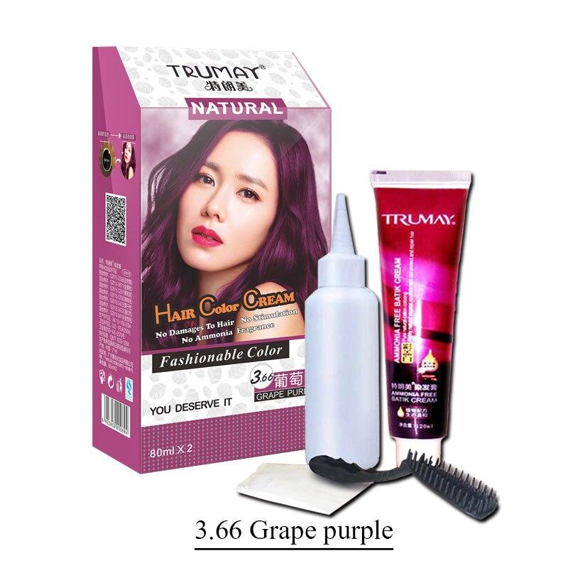Aliexpress Buy Permanent Grape Purple Hair Color Cream