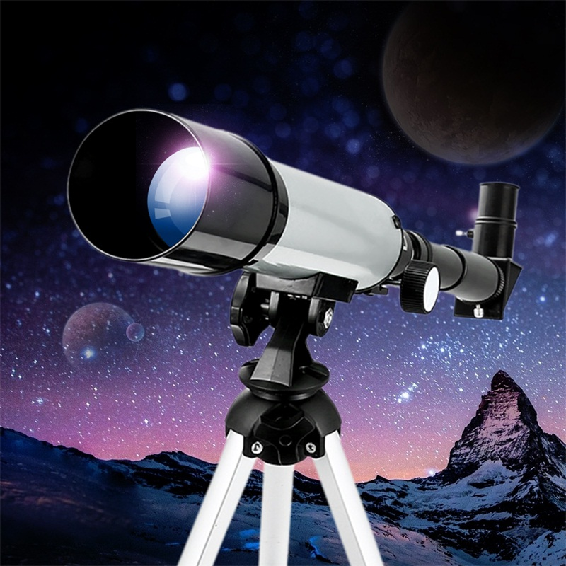 Children Outdoor Magnification Toy High Powered Monocular Telescope Toy Astronomy 50/360mm Refractor Scope For Beginner Student