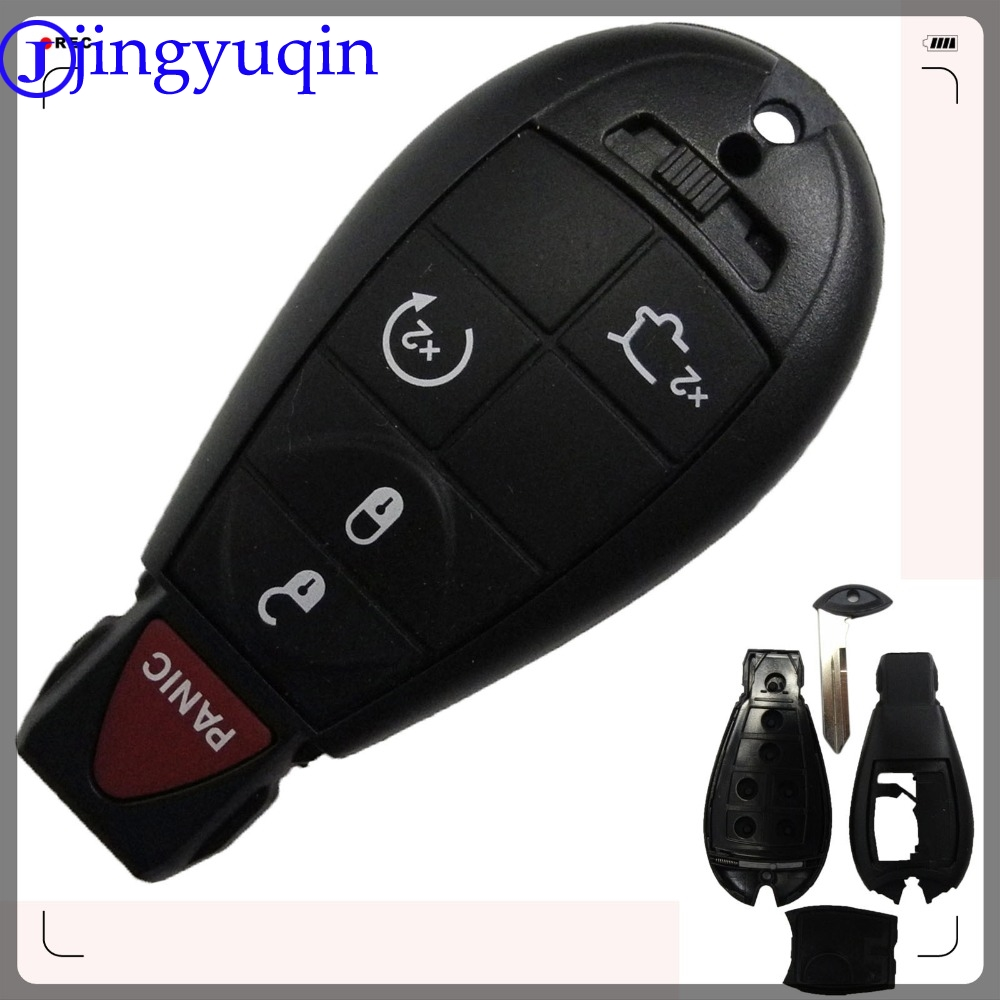 jingyuqin 5 Buttons Remote Key Case Cover For Commander Grand Cherokee Car Key Shell Fob Keyless