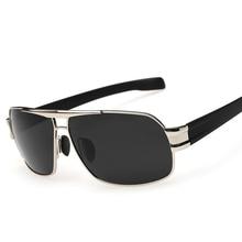 Nueva Moda 2017 Hombres gafas de Sol UV400 Polaroid Marco de la Aleación Del Metal Del Rectángulo Espejos Gafas Gafas Para Hombre Gafas de Sol Gafas