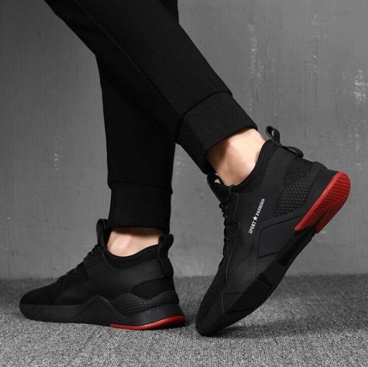 Preto Casuais Sapatos Dos Esportivos Homens No Em Primavera Leve Execução Inverno Outono Calçados Não Maré deslizamento Viagem Respirável Xwwdvv E wFHqp4xE