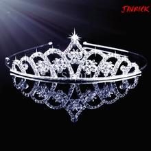 Prom Wedding Bridal Bridesmaid Tiara Crown Headband Heart Girls Crystal Rhinestone Jewelry hair Accessories Bride Head Ornament