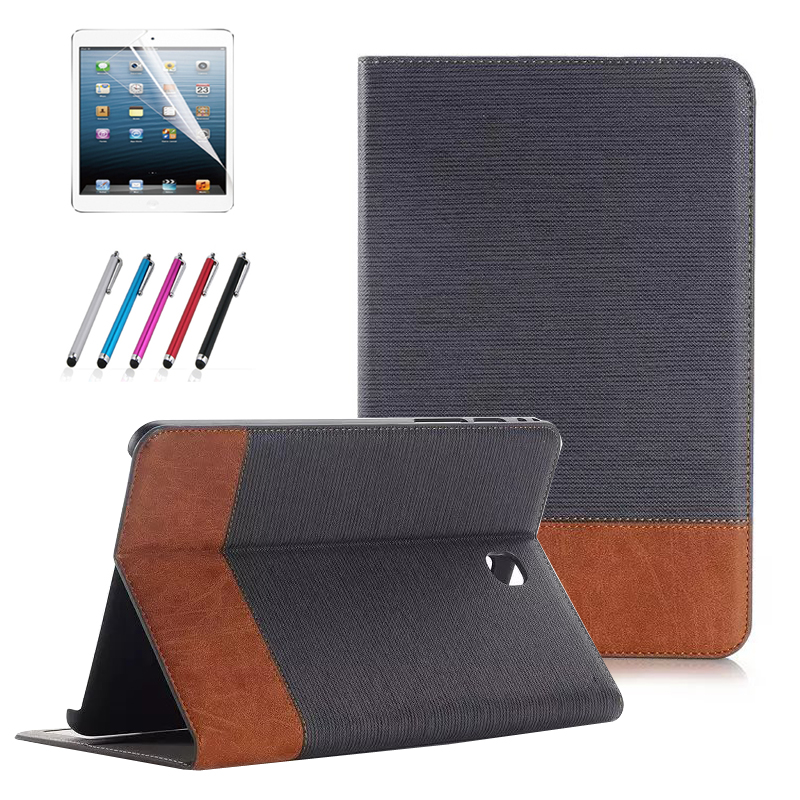 TAB S2 9.7 Smart Case Stand Folding PU Leather Cover Case for Samsung Galaxy Tab S2 9.7 T815 T810 Tablet+Screen Protector+Stylus