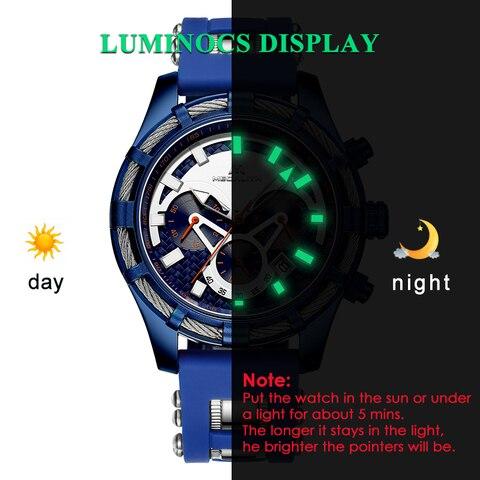 MEGALITH Men Watches Top Brand Luxury Luminous Display Waterproof Watches Sport Chronograph Quartz Wrist Watch Relogio Masculino Islamabad