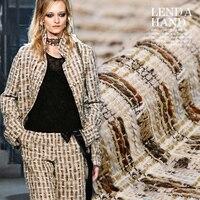 Najnowsze modele wybuchu transfer tkaniny tweed tkaniny z wełny wełniana z wełny wełniana odzieży zimowej mody sukno