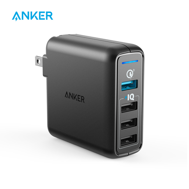 Anker Quick Charge 3,0 de 43,5 W 4-Puerto USB pared cargador powerPort velocidad 4 para Galaxy S7/S6/borde + Nota 4/5 LG G4/G5 HTC etc.