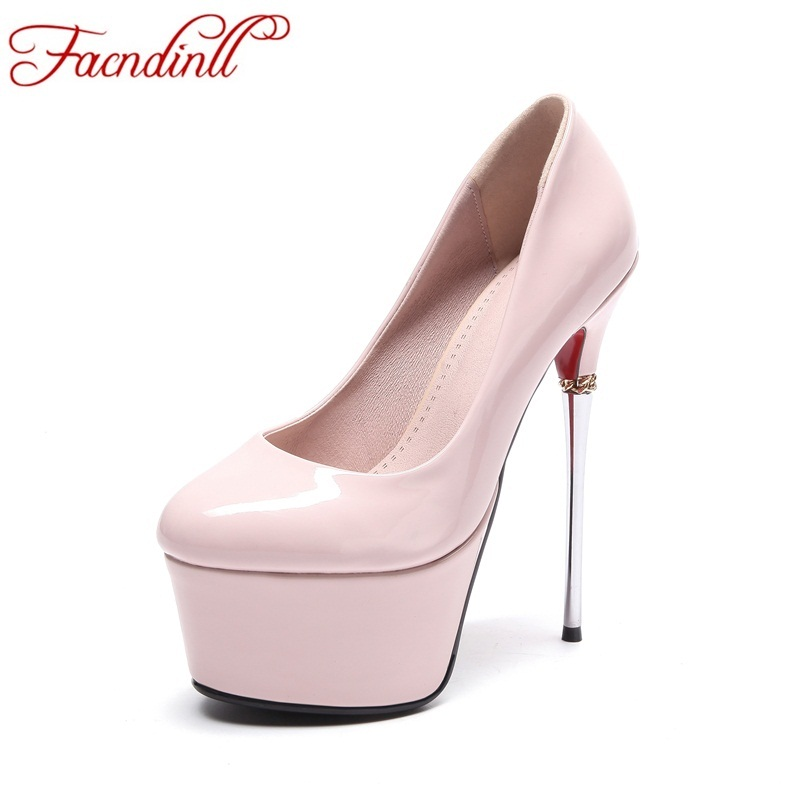 FACNDINLL patent leather pumps spring autumn shoes women sexy ladies pumps super high heels nude shoes platform nude party shoes siketu free shipping spring and autumn high heels shoes career sex women shoes wedding shoes patent leather style pumps g017
