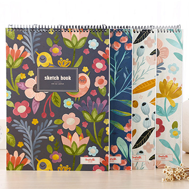 Dilosbu Spiral Notebook A4 Sketch book Watercolour Paper Sheets Kawaii Stationery Diary Planner Cute Graduation Gift For Student deli new 1pc notebook korea cute stationery european retro paper cover diy a diary book cute notebook vintage weekly notebook