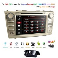 8 HD Car DVD Player GPS Navi For TOYOTA AURION CAMRY RDS SWC BT CAM IN subwoofer output Game Maps MirrorLink DAB+TPMS DTV Radio