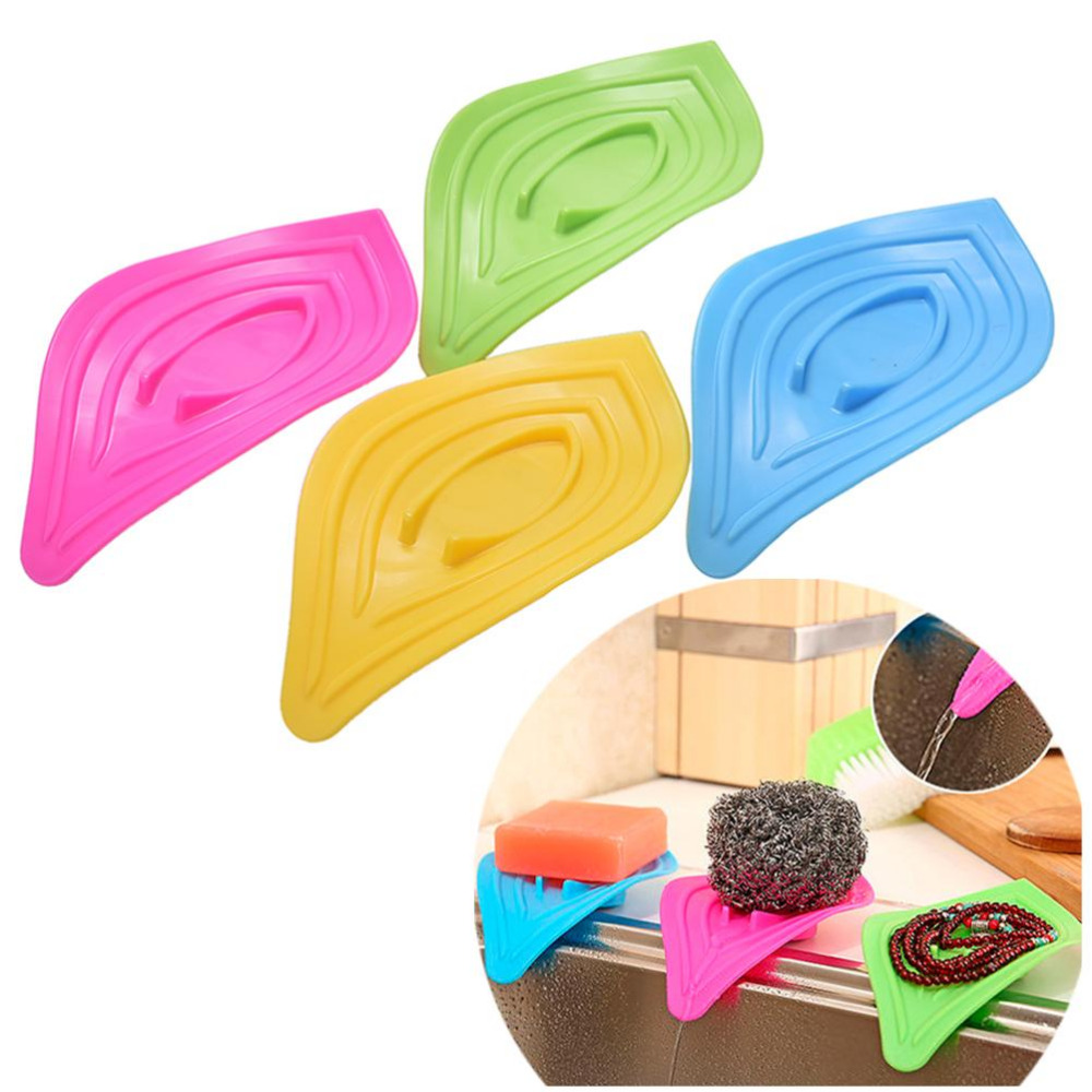 Kitchen Drying Racks Sponge Storage Holder Antiskid Drian Board Sink Drain Slip Ring Leaves Soap Box Shelving Bathing Accessory