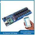 LAN RJ45 interface Industrial Network 16 Channels relay board controller for home automation remote control switch