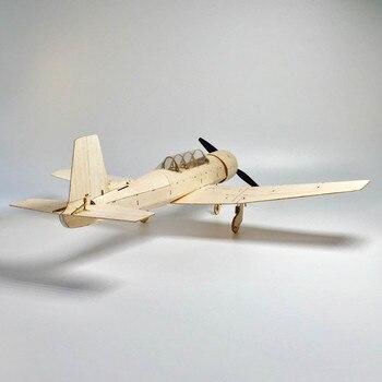 MininimumRC Avión De Corte Láser Avión De Madera De Balsa Kit Nuevo Modelo De Marco CJ6 Kit De Construcción