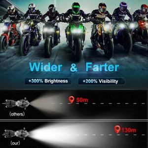 Image 5 - 9003 H4 Led 오토바이 헤드 라이트 전구 6000LM 35W 하이/로우 라이트 화이트 운전 조명 오토바이 H4 LED 모토 자전거 헤드 램프 램프 12V