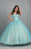 חם ארוך שמלת אור אלגנטי Vestidos דה 2018 15 Anos ורוד כחול חשופה גב תחרת Quinceanera Sweet 16 שושבינה בתוספת גודל שמלות