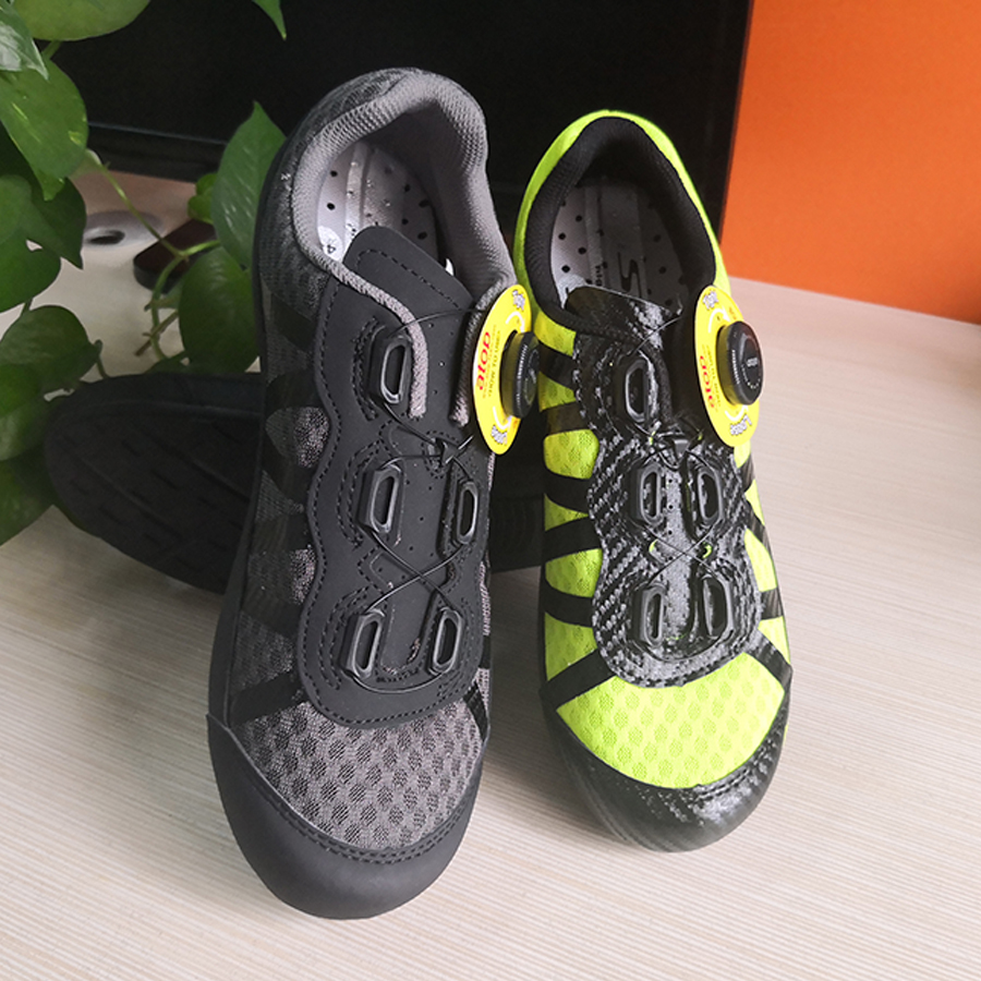 Sidebike Leisure Cycling Shoes Non Lock Touring Bike Shoes Ultralight Breathable Rotary Lacing System Multi use