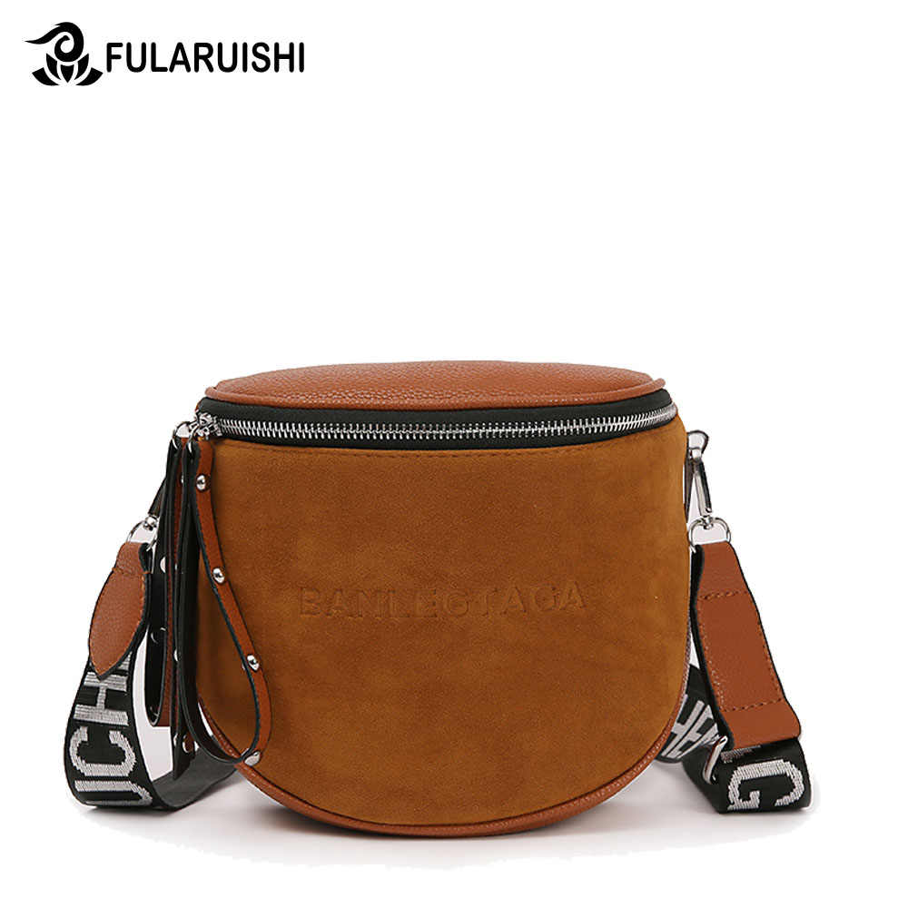 4b84e7eb39 Fularuishi Crossbody Bag For Women Messemger Bags Pu Leather Shoulder Bag  Fashion Famous Brand Lady Semicircle
