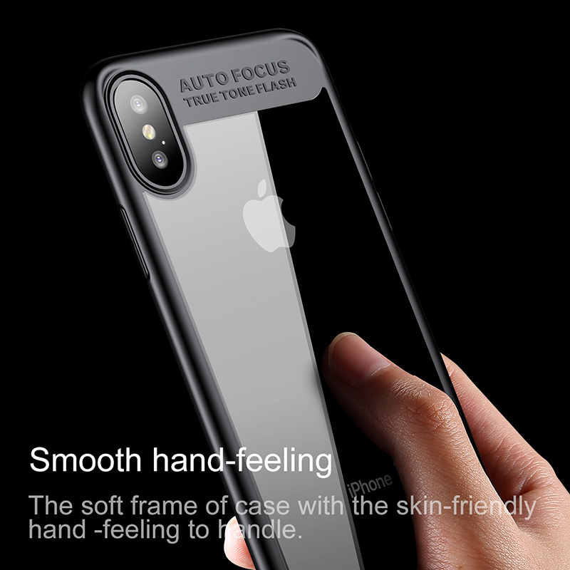 sports shoes a4b5d a3783 US $6.99 |Baseus Luxury Case For iPhone X Case For iPhone X 10 Ultra Thin  Slim Capinhas PC & TPU Silicone Cover For iPhoneX Coque Fundas-in Fitted ...