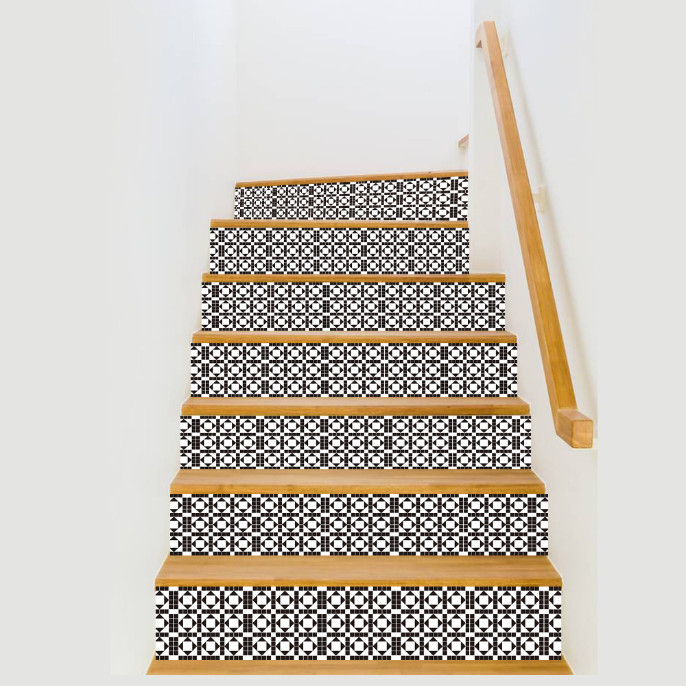 6pcs Simple DIY Steps Sticker Removable Stair Sticker Wallpaper for Livingroom Floor Home Decoration 18*100cm Self adhensive