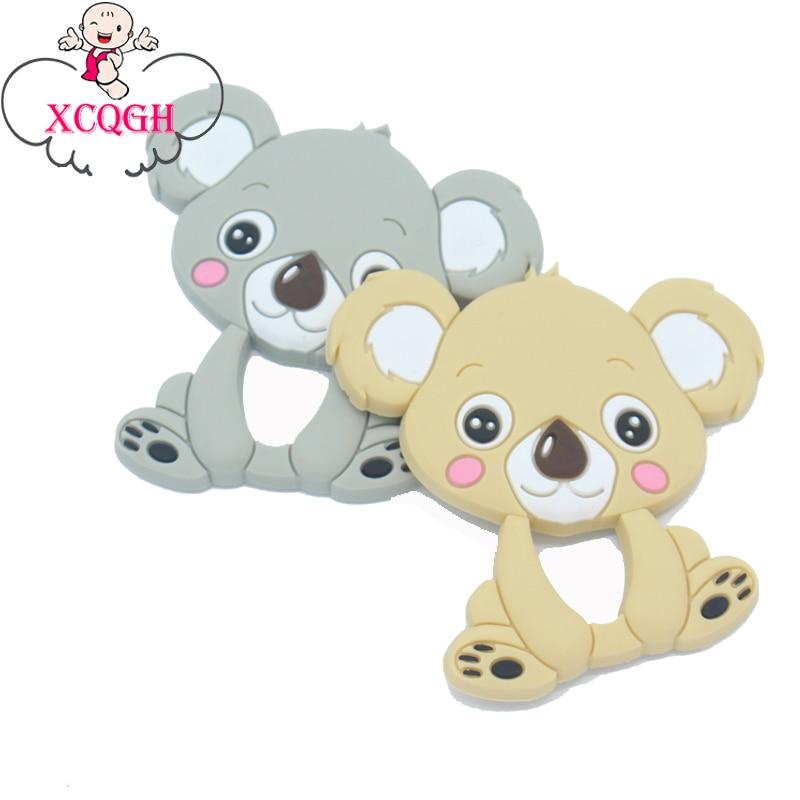 Xcqgh 1 StÜcke Baby Beißringe Silikon Kinderkrankheiten Spielzeug Niedliche Koala Kauen Charms Baby Bpa Frei Silikon Beißringe Diy Halskette Anhänger Durchblutung GläTten Und Schmerzen Stoppen Baby Beißringe Zahnärztliche Versorgung