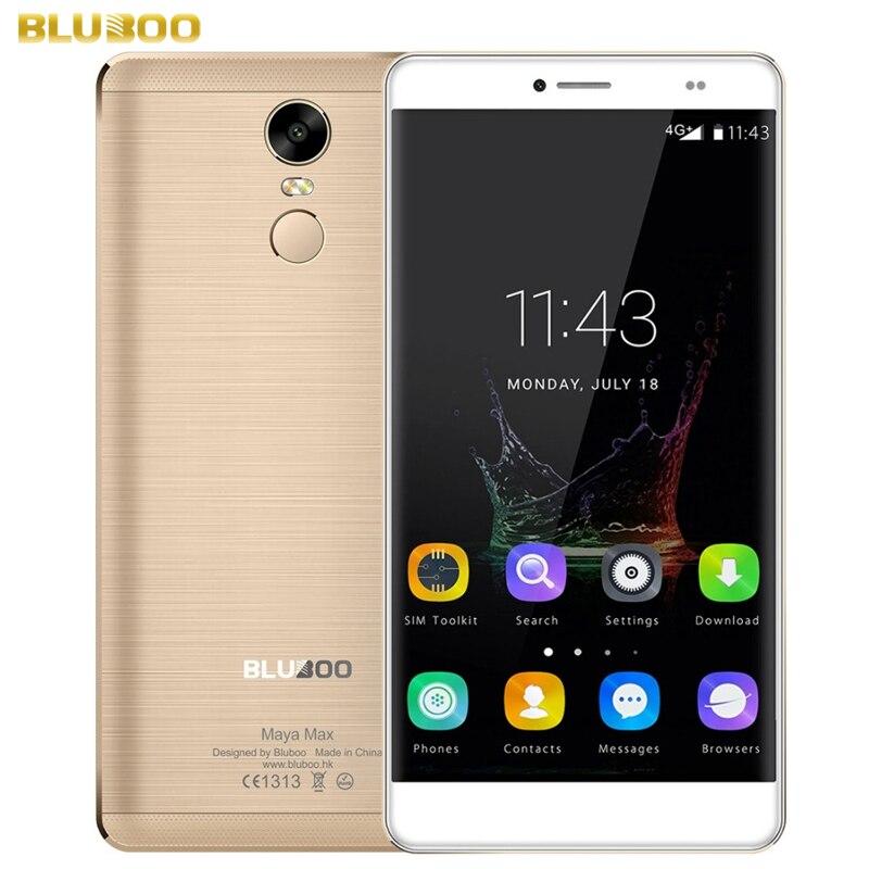 Original BLUBOO Maya Max 32GB 3GB Network 4G Fingerprint Identification 6 0 Android 6 0 MTK6750
